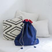 イカット巾着Lサイズ (OPT973) Rosily(ロージリー) バリ島 アタかごバッグ 浴衣や着物にも エコバッグ ポーチ