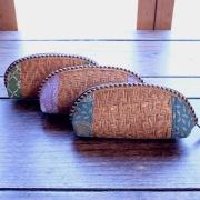アタ&布 ポーチLサイズ (OVL234)  Rosily(ロージリー) バリ島 アタかご雑貨