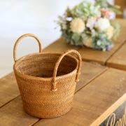 鉢カバーSサイズ (OVL243)  Rosily(ロージリー) バリ島 アタかご雑貨