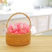 花籠持手付きSサイズ (OVL244) Rosily(ロージリー) バリ島 アタかご雑貨 花器 フラワーアレンジ ドライフラワー
