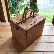 ピクニックスーパースクエア(PNC161) Rosily(ロージリー) バリ島 アタバスケット コスメ 茶籠 裁縫箱