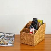 リモコン立て4枠Lサイズ   (RCB274)  Rosily(ロージリー) バリ島 アタかご雑貨