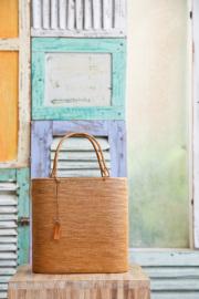 Rosily(ロージリー) バリ島 極細編みアタかごバッグ 浴衣や着物にも 楕円ウルトラスーパー LL  (SAB117)