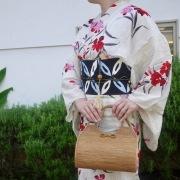俵型スーパーMサイズ (SAB141)  Rosily(ロージリー) バリ島 高級 極細編みアタかごバッグ 浴衣や着物にも