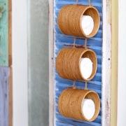 ロールペーパー吊り下げ3連 (TIS225)  Rosily(ロージリー) バリ島 アタかご雑貨