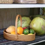持手付パン皿Mサイズ (TRY287)  Rosily(ロージリー) バリ島 アタかご雑貨