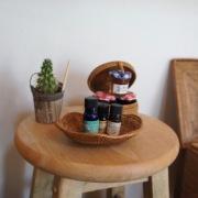 波形トレイSサイズ (TRY294)  Rosily(ロージリー) バリ島 アタかご雑貨