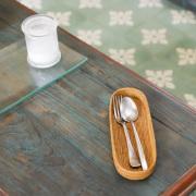 カトラリー入れ楕円浅型S (TRY302) Rosily(ロージリー) バリ島 アタかご雑貨 キッチン収納 ペン入れ