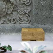 長方形 足付き蓋付き Mサイズ (TRY312) Rosily(ロージリー) バリ島 アタバッグかご雑貨 キッチン収納 リビング収納 小物入れ