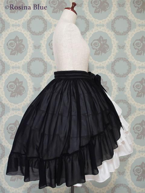 大きいサイズ ゴスロリ オーバースカート