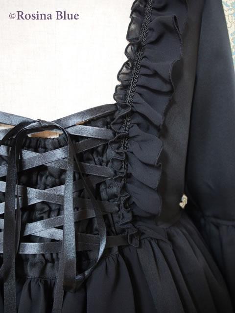 大きいサイズ ゴシック&ロリィタ 姫袖ワンピース