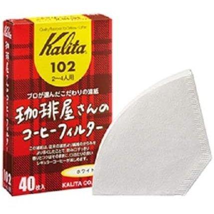 カリタ 珈琲屋さんのコーヒーフィルター102 ホワイト 2~4人用 40枚入り