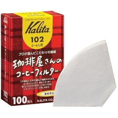 カリタ 珈琲屋さんのコーヒーフィルター102 ホワイト 2~4人用 (100枚入り)