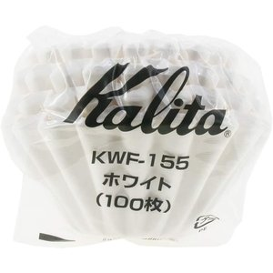 カリタ コーヒーフィルター ウェーブシリーズ ホワイト 1~2人用 100枚入り KWF-155