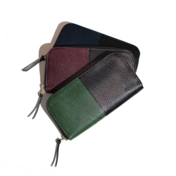 Dollaro leather long wallet