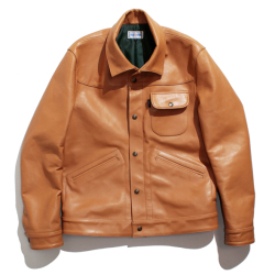 Steerhide leather blouson