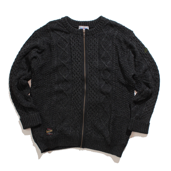 Alan pattern zipper cardigan