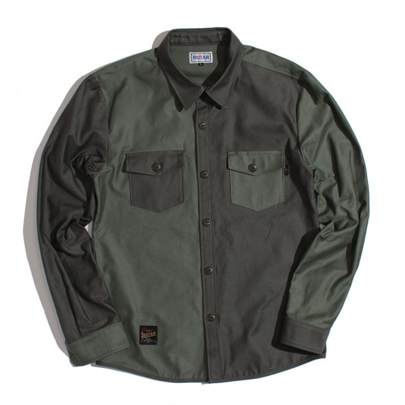 【30%OFF】Switching Military Shirt