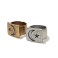 Moon Star  PLATE Ring