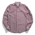 Stripe regular collar shirt