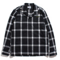 Shaggy Check open collar shirt