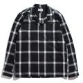 【70%OFF】Shaggy Check open collar shirt