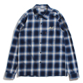 Ombre check work shirt