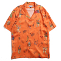 Caribbean Print Rayon Aloha Shirt
