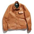 Steerhide leather blouson
