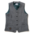 Tweed Glencheck Vest