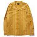 Classic striped open collar shirt
