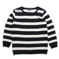 Crew neck border knit