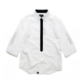 【会員限定】【30%OFF】basic minimal tied 7s roll up shirt