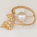 タサキ ブローチ パール×ダイヤモンド 真珠 K18YG 【中古】 Tasaki Brooch Pearl Diamond 【USED】