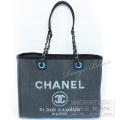 シャネル トートバッグ ドーヴィル チェーンショルダーバッグ グレー 【新品】CHANEL Chain Shoulder Bag  【NEW】