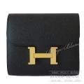エルメス コンスタンス コンパクト ウォレット 黒 ブラック エプソン ピンクゴールド金具 【新品】 HERMES Constance Compact wallet Black Epsom Pink gold Buckle 【NEW】