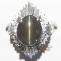 キャッツアイ×ダイヤモンドリング 指輪 7,94 D0,91  【新品】 Catseye Diamond ring Refurbished 【NEW】