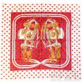 """エルメス スカーフ90 カレ """"ブリッド ドゥ ガラ ラブ """" ハート ルージュヴィフ×マリン×ブラン シルク 限定 【新品】 HERMES  Carre 90  """"Brides de Gala Love"""" Rouge Vif×Marine×Blanc  Silk 【NEW】"""