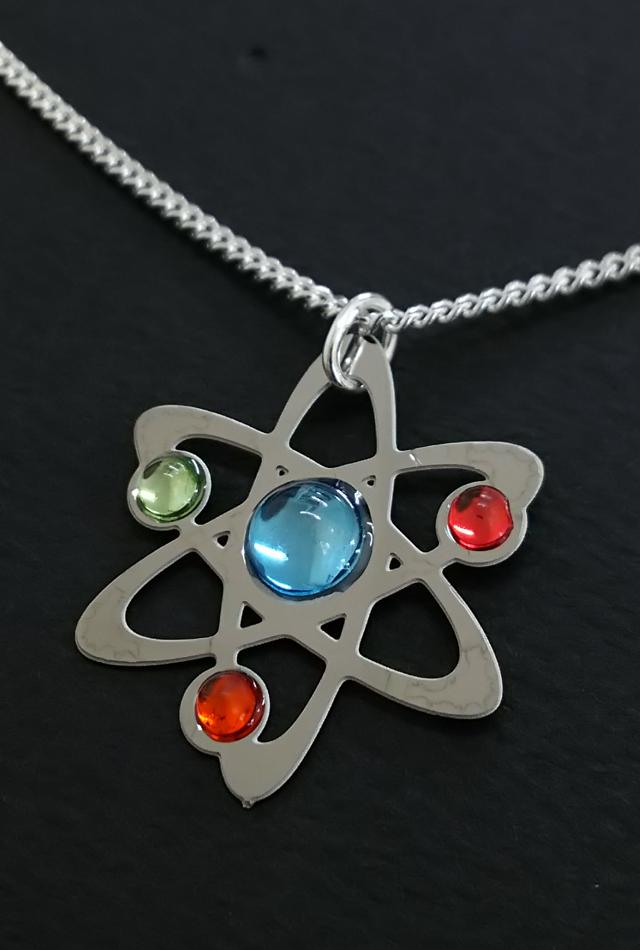 【サイエンスジュエリー】アトムネックレス(Atom necklace)