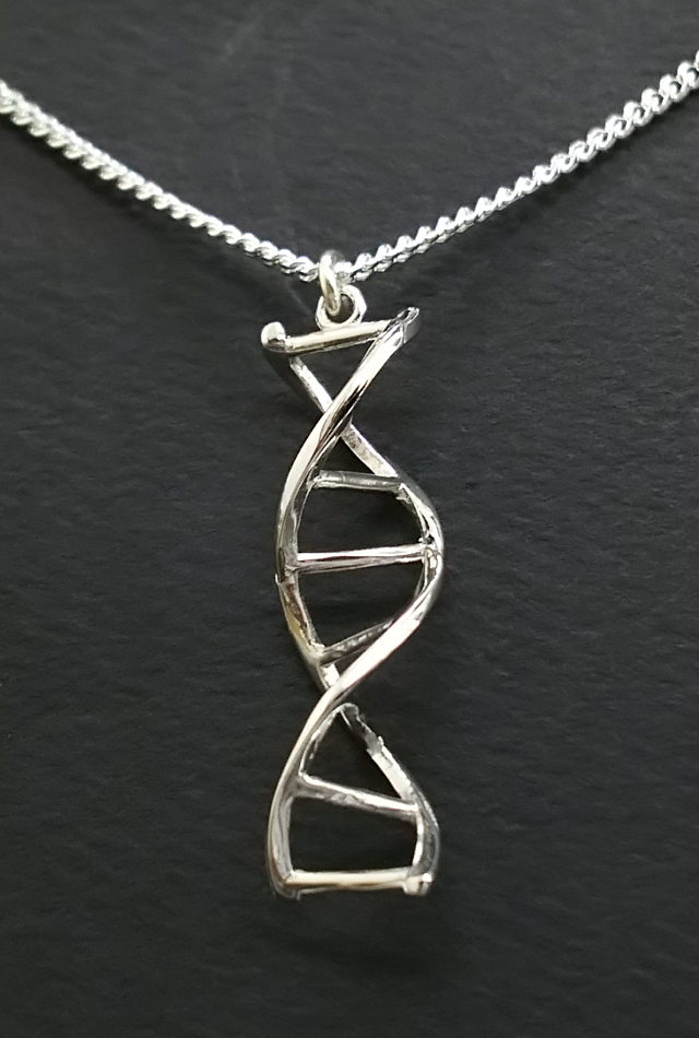 【サイエンスジュエリー】DNAネックレス・Sterling Silver(DNA necklace Sterling Silver)