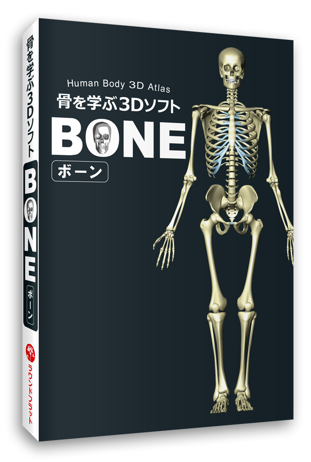 【ソフト】骨を学ぶ3DソフトBONE(ボーン)《全身の骨図鑑》