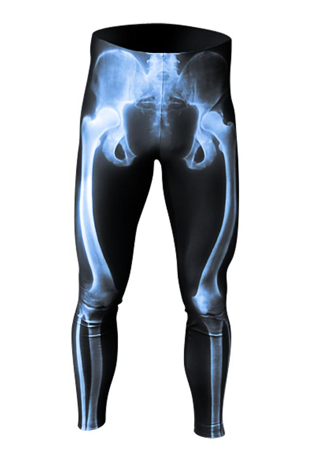 【速乾性スポーツウェア】エックス線・レギンス(X-ray leggings)