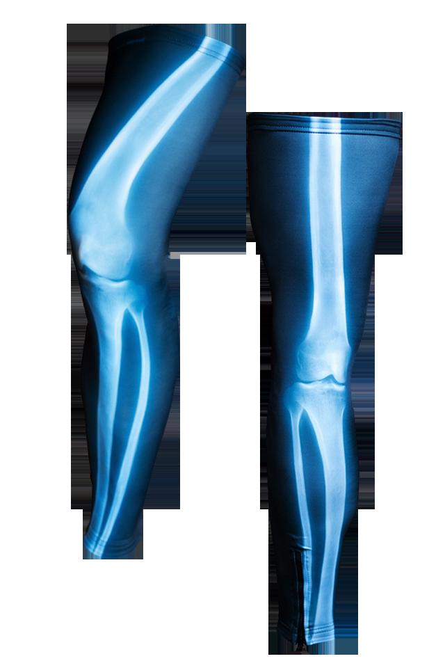【速乾性スポーツウェア】エックス線・レッグウォーマー(X ray Leg Warmers)