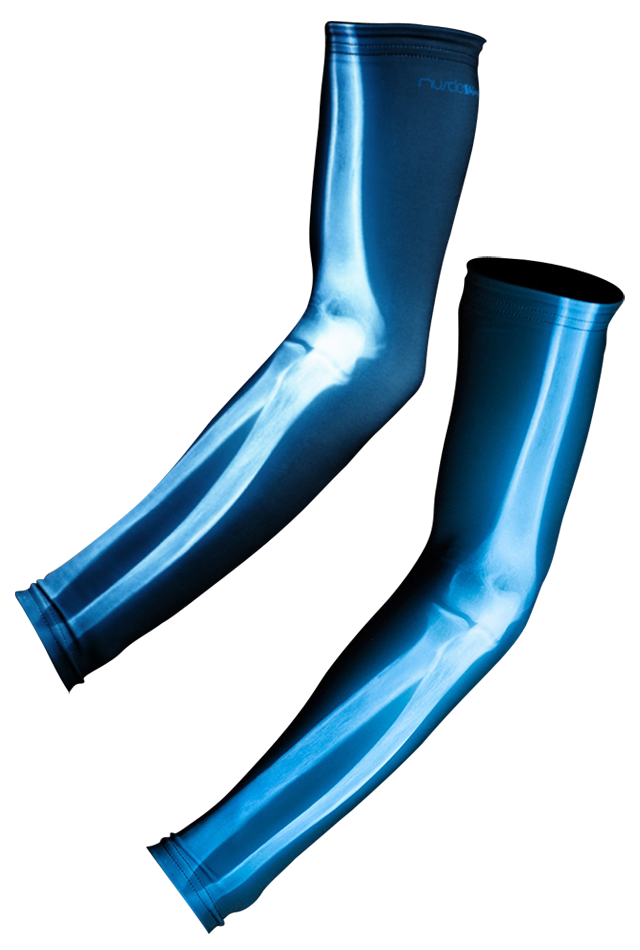 【速乾性スポーツウェア】エックス線・アームウォーマー(X ray  Arm Warmers)
