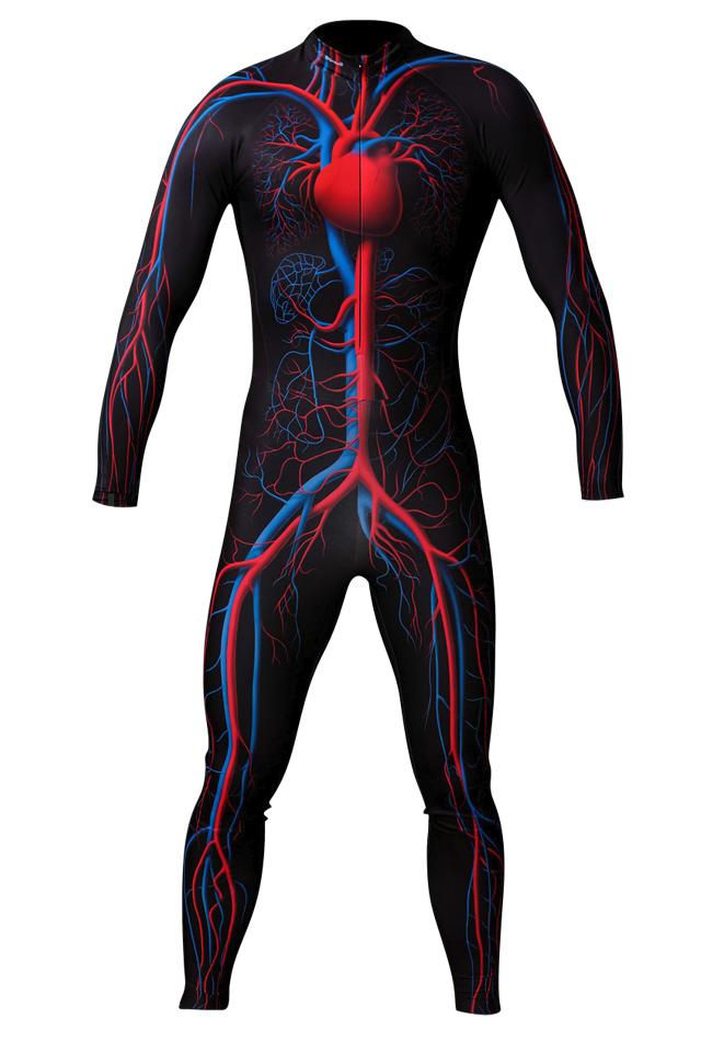 【速乾性スポーツウェア】循環系スーツ(Circulatory System Skin Suit)