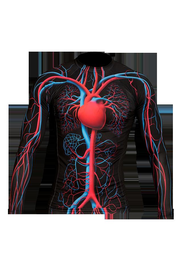 【速乾性スポーツウェア】循環系・ラッシュガード・ロング(Circulatory Rashgurad Long)