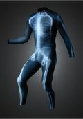 【速乾性スポーツウェア】エックス線スーツロング(X-Ray long suit)