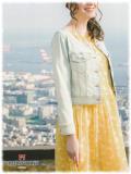 ギャラリービスコンティ 春物 ワンピース シフォン フラワープリント 七分袖 【 1168804 】