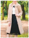 ギャラリービスコンティ 2019 秋物 コート キルティング ジップアップ 【 1384093 】 【カタログ掲載商品】