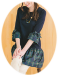 ギャラリービスコンティ 2019 秋物 チュニック チェック切替  【 1391914 】【 カタログ掲載商品 】